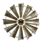 Gracie Oaks Soumya Three Dimensional Windmill Blades 6'' Wall Clock