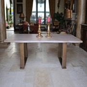 Gracie Oaks Danni Steel Dining Table; 30'' H x 70'' L x 40'' D