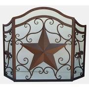 De Leon Collections Star 3 Panel Metal Fireplace Screen