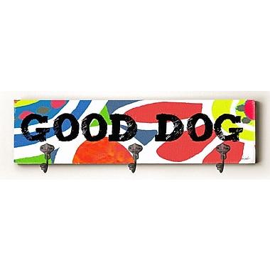 Ebern Designs Calvin Good Dog Solid Wood Wall Mounted Coat Rack