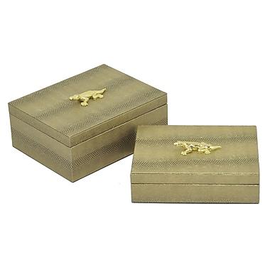 Everly Quinn Theophania 2 Piece Decorative Box Set; Gold
