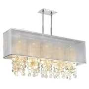 Everly Quinn Salerna 5-Light Kitchen Island Pendant; White