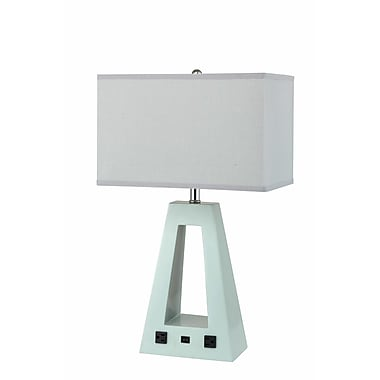 George Oliver Altona Pyramid Inspired Poly Resin 26'' Table Lamp