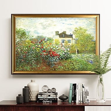 Darby Home Co 'The Artist Garden' Wood Framed Oil Painting Print on Wrapped Canvas
