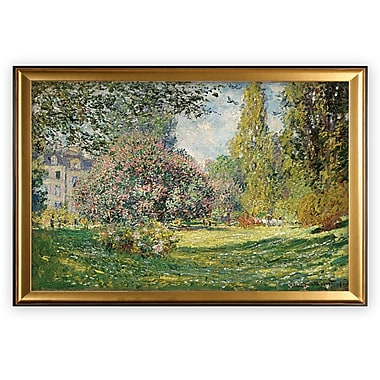 Darby Home Co 'Parc Monceau, Paris' Wood Framed Oil Painting Print on Wrapped Canvas