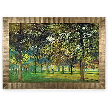 'The Alley of Champ De Foire' Rectangle Wood Framed Oil Painting Print on Wrapped Canvas