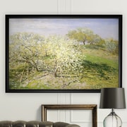 'Apple Trees in Bloom' by Van Gogh Rectangle Framed Oil Painting Print on Wrapped Canvas
