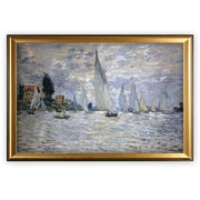Longshore Tides 'The Boats Regatta at Argenteuil' Wood Framed Oil Painting Print on Wrapped Canvas