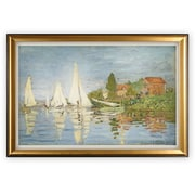 'Chapelton at Argenteuil' by Claude Monet Vertical Framed Oil Painting Print on Wrapped Canvas