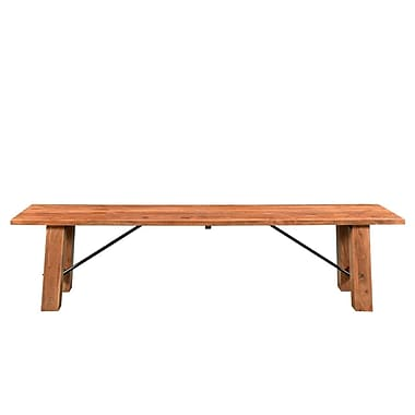 Loon Peak Mill Valley Acacia Wood Dining Bench; 18'' H x 71'' W x 16'' D