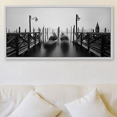 Latitude Run 'Venice 2' Framed Painting Print; 12'' H x 24'' W