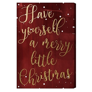 Mercer41 'Have Yourself A Merry Christmas' Textual Art on Canvas; 36'' H x 24'' W x 1.5'' D