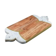 Patina Vie Wood Chopping Board w/ Lavender Marble Edges