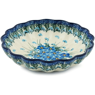 Polmedia Forget Me Not Scalloped Salad Bowl