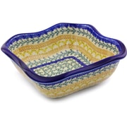 Polmedia Autumn Swirls Square Serving Bowl