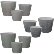 Selectives Snow Flake 9-Piece Ceramic Pot Planter Set
