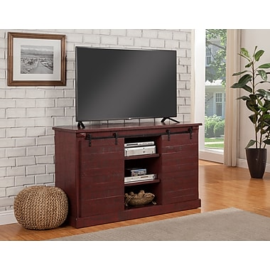 17 Stories Racheal 60'' TV Stand; Red