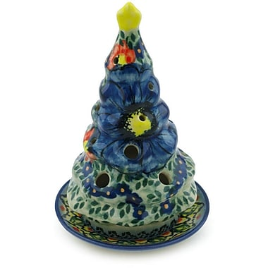 Polmedia Aztec Flowers Christmas Tree Porcelain Lantern