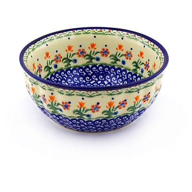 Polmedia Spring Flowers Fluted Rice Bowl