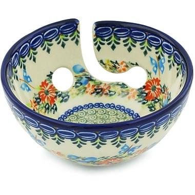 Polmedia Polish Pottery Yarn Decorative Bowl