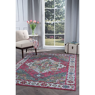 TayseRugs Aria Transitional Pink Area Rug; 5'3'' x 7'3''