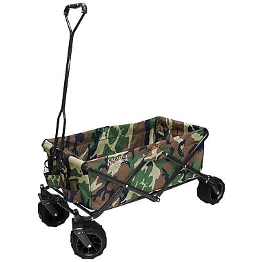 Creative Outdoor – Chariot pliable tout-terrain, imprimé camouflage militaire (900248)