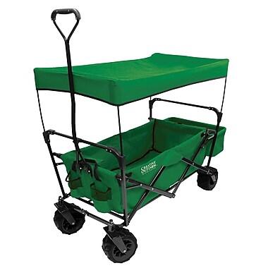 Creative Outdoor – Chariot tout-terrain pliable à auvent, vert (900246)