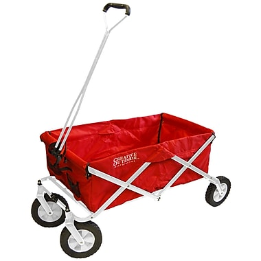 Creative Outdoor Original Folding Wagon, Red/White Frame (999485)