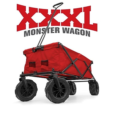 Creative Outdoor XXXL Monster Size Folding Big All Terrain Sports Wagon, Red (900564)