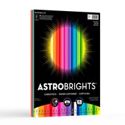 "Astrobrights Colored Cardstock, 8.5"" x 11"", 65 lb/176 gsm, ""Spectrum"" 25 Color Assortment, 75/Pack (80944-01)"