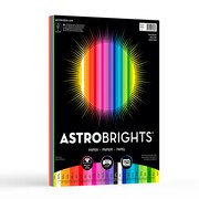 "Astrobrights Color Paper, 8.5 "" x 11"", 24 lb/89 gsm, ""Spectrum"" 25-Color Assortment, 150 Sheets/Pack (80933-01)"