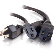 C2G 6ft 16 AWG 1-to-2 Power Cord Splitter (1 NEMA 5-15P to 2 NEMA 5-15R)