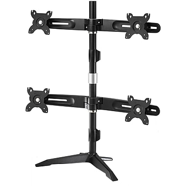 Amer Mounts Stand Based Quad Monitor Mount for four 15