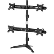 """Amer Mounts Stand Based Quad Monitor Mount for four 15""""-24"""" LCD/LED Flat Panel Screens (AMR4SU)"""