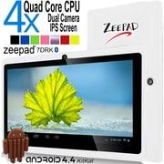 """Zeepad 7DRK-Q Tablet, 7"""", 512 MB DDR3 SDRAM, Allwinner Cortex A7 A33 Quad-core, 4 GB, Android 4.4.2 KitKat (7DRK-IP-WHT)"""
