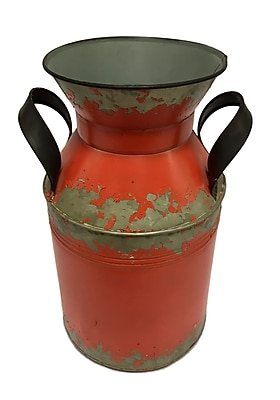 Williston Forge Izidora Metal Double Handle Table Vase