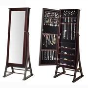 Alcott Hill Fleming Eiffel Free Standing Jewelry Armoire w/ Mirror