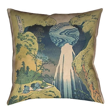 Bloomsbury Market Rinan Japanese Waterfall Throw Pillow; 26'' x 26''