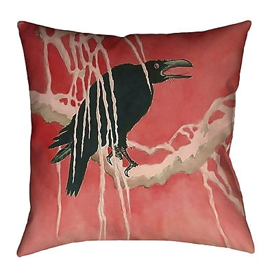 Bloomsbury Market Montreal Crow and Willow 100pct Cotton Throw Pillow; 14'' x 14''