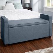 Darby Home Co Chevalier Upholstered Storage Bench; Dark Gray