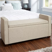 Darby Home Co Chevalier Upholstered Storage Bench; Tan