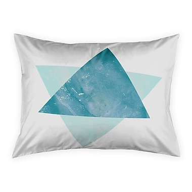 Brayden Studio Hanlin Watercolor Triangles Sham; Standard
