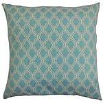 Brayden Studio Deneb Geometric Outdoor Throw Pillow; 18''x18''