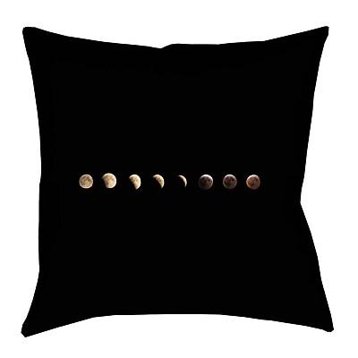 Brayden Studio Shepparton Moon Phases Linen Throw Pillow; 18'' x 18''