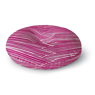 East Urban Home Anchobee Loom Round Floor Pillow; 26'' x 26''