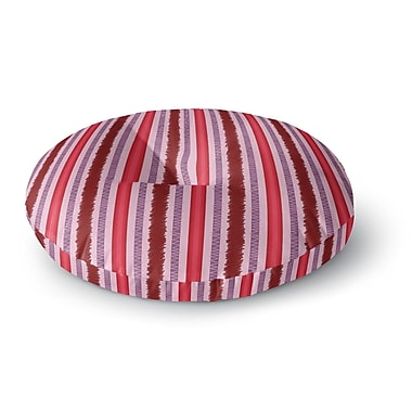 East Urban Home Mydeas Scribbled Candy Stripes Vector Round Floor Pillow; 23'' x 23''