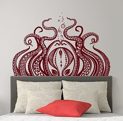 Decal House Octopus Wall Decal; Beige