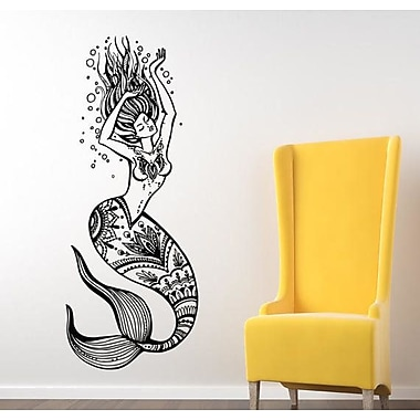 Decal House Mermaid Wall Decal; Light Brown
