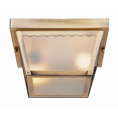Ebern Designs Brock 2-Light Outdoor Flush Mount; White