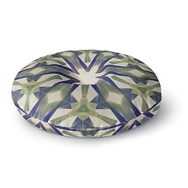 East Urban Home Angelo Cerantola Lymph Geometric Modern Round Floor Pillow; 23'' x 23''